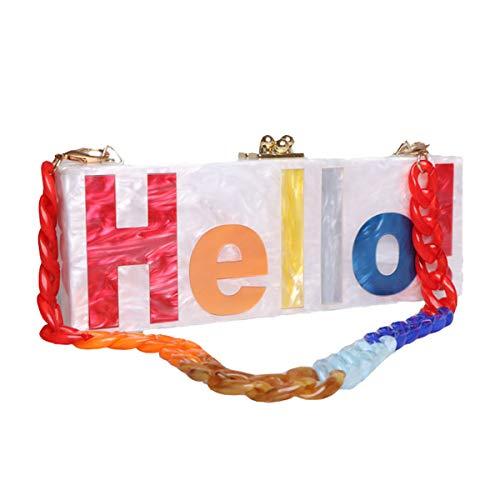 Hello Words Acrylic Evening...