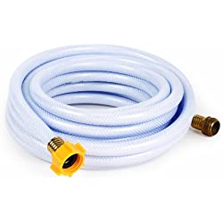 """Camco 25ft TastePURE Drinking Water Hose - Lead and BPA Free, Reinforced for Maximum Kink Resistance 5/8""""Inner Diameter (22783)"""