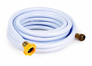 "Camco 25ft TastePURE Drinking Water Hose - Lead and BPA Free, Reinforced for Maximum Kink Resistance 5/8""Inner Diameter (22783)"