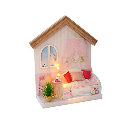 Fine DIY Wooden Miniature Dollhouse Kit Realistic Mini for sale  Delivered anywhere in USA