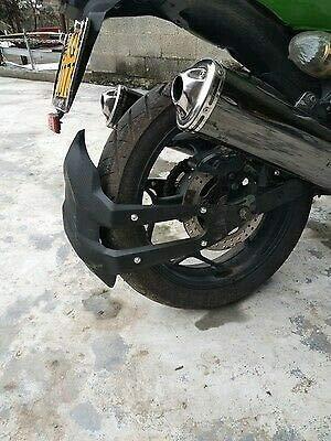 BHYShop Retro Universal Moto Negro Guardabarros trasero Mudguard Splash Guard Cover para BM-W Honda Dirt Bike Off-Road