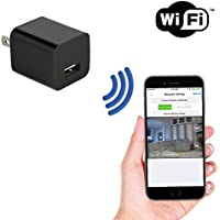 SpygearGadgets 1080P HD WiFi Streaming Mini USB Wall Charger Hidden Spy Nanny Camera - Stream Live HD Video to iPhone/Android Phones
