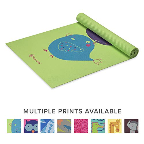 (Gaiam Kids Yoga Mat Exercise Mat, Yoga for Kids with Fun Prints - Playtime for Babies, Active & Calm Toddlers and Young Children, Birdsong, 3mm)