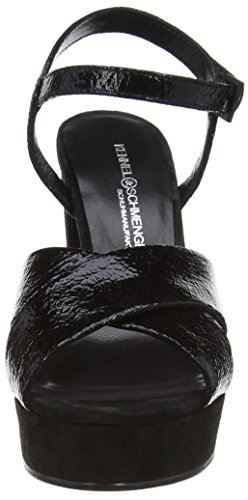 Kennel Vichy A Tacco T Cinturino Con schwarz schwarz Donna Schmenger Schuhmanufaktur Nero Col schwarz Und Scarpe trqRwrz