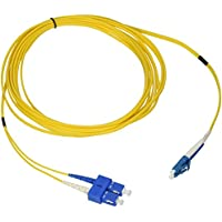 C2G/ Cables To Go 28950 LC-SC 9/125 OS1 Duplex Single-Mode PVC Fiber Optic Cable (5 Meters, Yellow)