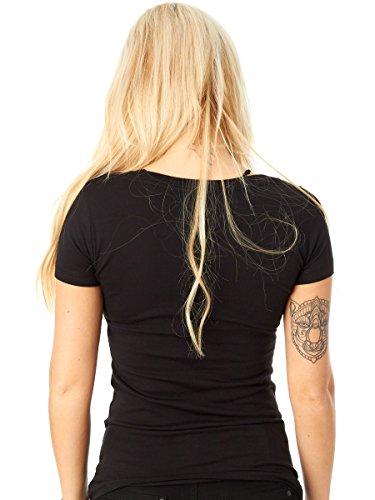 Camiseta mujer Lucky 13 Catch Me Scoop Negro