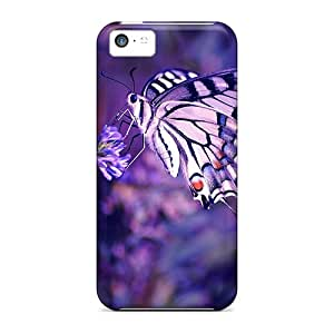 Hladdy Snap On Hard Case Cover Beautiful Lavender Butterfly Protector For Iphone 5c
