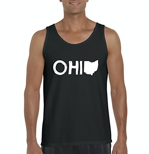 Ugo Ohio Map OH Ohio Cincinnati Map Bearcats Buckeyes Home of Ohio State University Men's Tank - Near Cincinnati Oh Outlets