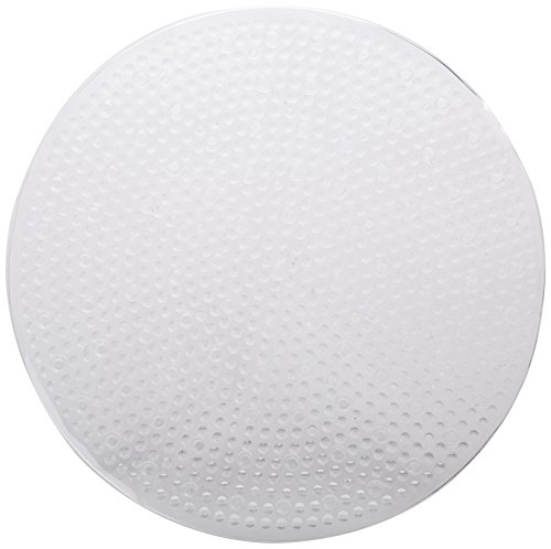 Round Shower Mat - Tushies & Toes Harmony Shower Mat, Round, Clear