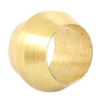 DP-iot 10PCS 6mm ID Brass Fit Compression Sleeve Fitting Sleeve Ferrule Ring