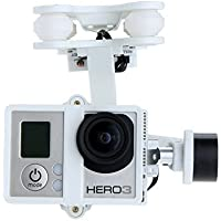 YEDAYS Quadcopter G-2D Brushless Gimbal White for iLook/GoPro Hero 3 Camera on Walkera QR X350 Pro