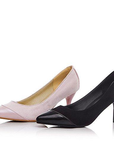 GGX/Damen Schuhe Fleece Sommer/Herbst Heels/spitz Toe Heels Büro & Karriere/Casual Trichterabsatz Split Gemeinsame Schwarz/Pink black-us7.5 / eu38 / uk5.5 / cn38