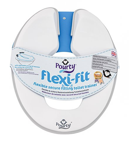 Pourty Blue Toilet Training Combo Flexi-fit Toilet Seat /& Up Step Stool