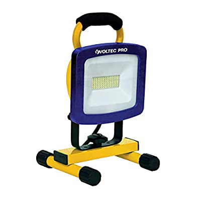 Voltec 08-00726 Portable LED Work Light, Yellow with Blue face Frame