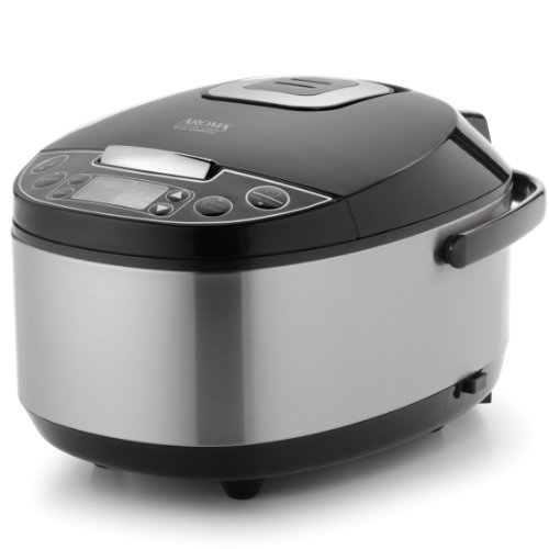 Aroma Housewares Professional (6 Cup uncooked rice resulting in 12 Cup Cooked rice), Rice Cooker, Food Steamer & Slow Cooker, Stainless Steel Exterior (Slow Cooker Rice Maker compare prices)