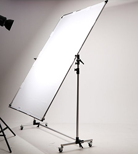 Falcon Eyes Pro Studio Solutions 150cm x 200cm (59in x 78.7in) Sun Scrim - Collapsible Frame Diffusion & Silver/Black Reflector Kit with Pulley can be moved Handle by OPENCLOUD (Image #1)