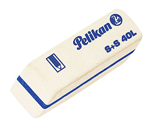 Pelikan 40x Gomma S+S/40L Bianca per Matita in caucciù 0ARK41
