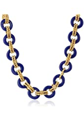 Kenneth Jay Lane Gold-Plated and Resin Link Necklace, 17""