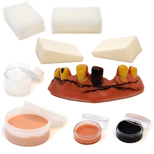 Halloween-Makeup-Ultimate-Family-Party-Pack-36-PCS-including-Liquid-Latex-Fake-Blood-Gel-Costume-Makeup