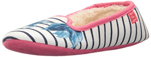 Joules Dreama, Chaussons Bas Femme Off-white (cream Clematis)