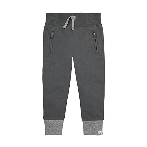 [Burt's Bees Kids Little Boys' Toddler Organic French Terry Zip Pocket Pant, Slate, 3T] (Terry Zip Pocket Pant)