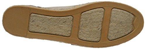 Rund Mountain Pumps Gold Metallic White Flach Espadrille Frauen Harmonize 1SqIxwFI