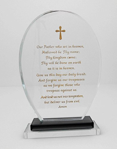 Christian Crystal Our Father Prayer by Nabil's Gift Shop