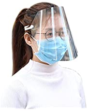 Protective Visor Face Shield Clear Visor Flip Up Transparent Face Shield Anti Splash Elastic Band Full Face Cover For Workshop Cooking Cleaning(5pcs)