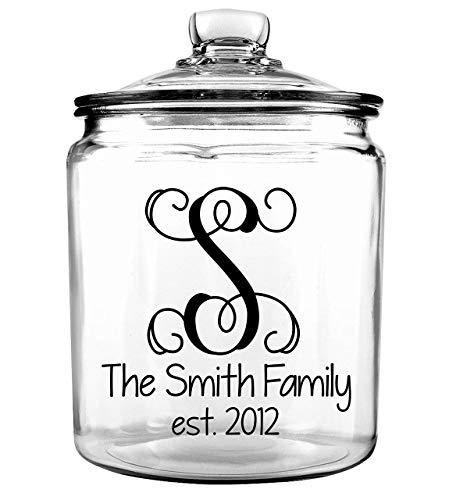 Personalized Cookie Jar - Personalized Treat Jar - Wedding Gift - Wedding Keepsake - Kitchen Home Decor - Family Cookie Jar - Personalized Last Name Cookie Jar