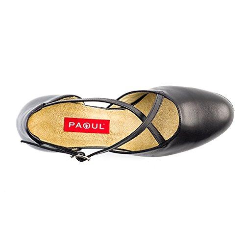 Tanzschuh PAOUL, CUCCARINI Muster Leder und Ferse 5cm.-17 T.60 Nero
