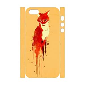 T-TGL(RQ) Iphone 5/5S 3D High-Quality Phone Case Fox with Hard Shell Protection