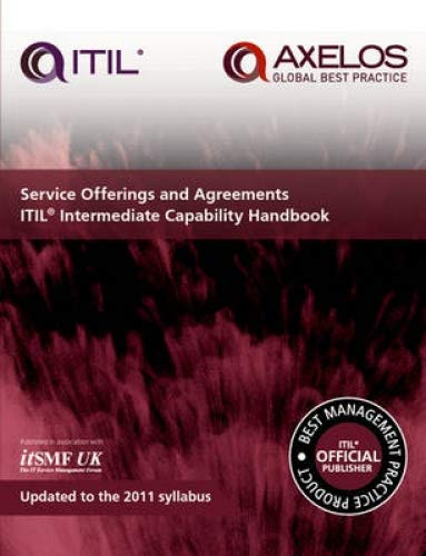 Service offerings and agreements: ITIL 2011 intermediate capability handbook (pack of 10) pdf epub