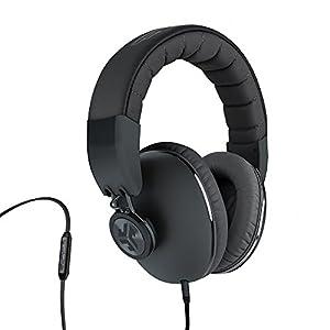 JLab Audio Bombora Over-Ear Headphones with Universal Mic, Matte Black/Gunmetal