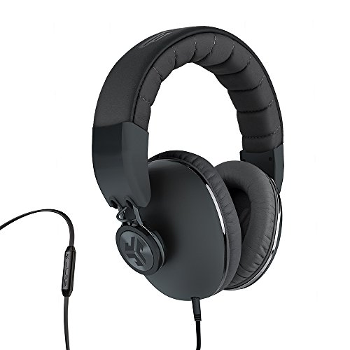 JLab Audio Bombora Over-Ear Headphones with Universal Mic, Matte Black/Gunmetal