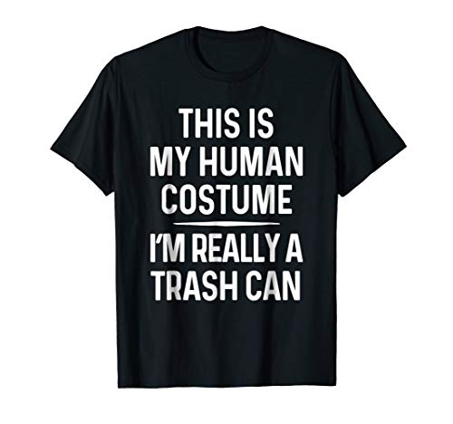 Funny Trash Can Costume Shirt Halloween Trash Can Tshirt