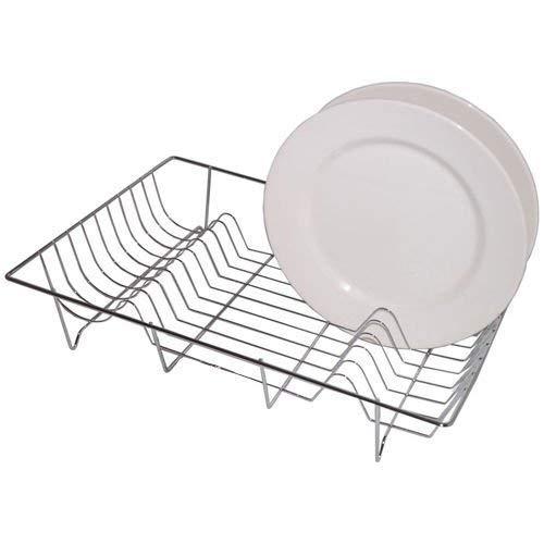 Chrome Large Sink Dish Drainer 48cm X 33cm