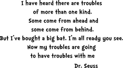 Dr. Seuss I Have Heard There Are Troubles of More Then One Kind. Wall Decal, Pell, Stick, Child, Nursery, Kid, Love, School