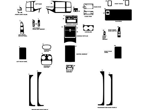 Rvinyl Rdash Dash Kit Decal Trim for GMC Sierra 2003-2006 (Denali) - Wood Grain (Walnut) ()