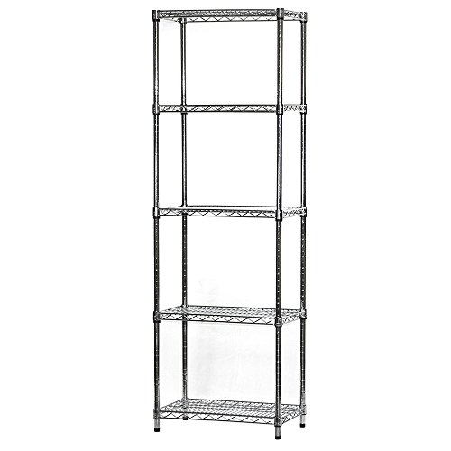 "Review 14""d x 24""w x 84""h Chrome Wire Shelving with 5 By Shelving Inc by Shelving Inc"