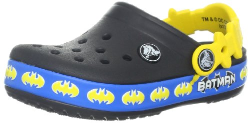 crocs 14726 CB Batman shield Clog (Toddler/Little Kid),Black,4 M US Toddler