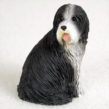 (Bearded Collie Miniature Dog Figurine )