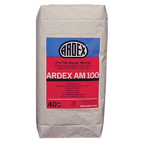 Ardex AM 100 Rapid Set Pre-Tile Smoothing & Ramping Mortar, 40 lb. Bag by Ardex
