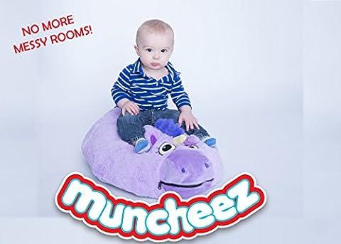 Muncheez Stuffed Animal Toy Organizer for Children, Unicorn