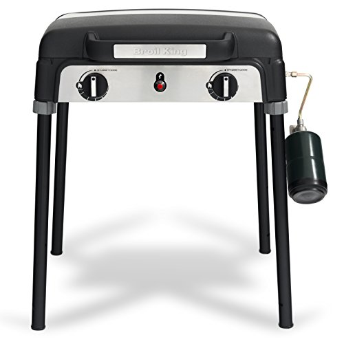 Broil King 920254 Porta-Chef Stove Portable Stove, Stainless Steel/Black - Porcelain Coated Stainless Steel Cooktop