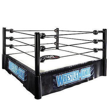 Mattel WWE Wrestling PPV Headquarters Exclusive Wrestlemania Superstar Ring [John Cena & The Rock Action Figures!] by WWE