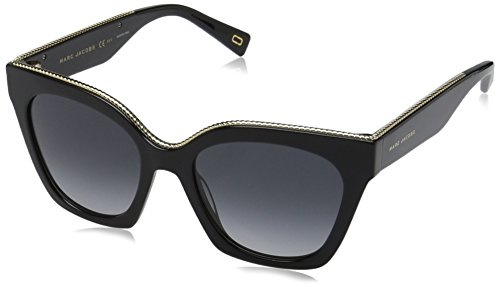 Marc Jacobs Women's Marc162s Square Sunglasses, Black/Dark Gray Gradient, 52 - Sunglasses Marc