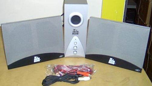 Keyboard The Singing Machine - 3 Piece Slim Thin Speakers and Subwoofer Set - Multimedia Speaker System