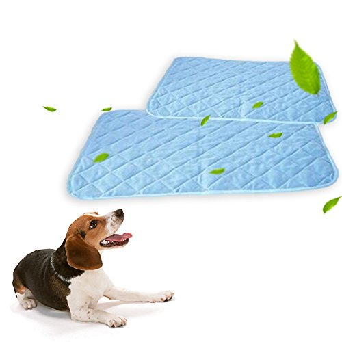 - Parisforbeauna Pet Cooling Pad, Pet Cold Gel Pad For Cats and Dogs, Solid Color Cooling Travel Pad Mat, Perfect for Floors, Couches, Car Seats, Laptop Mat, Picnic(90 60CM/35.43 23.62in)