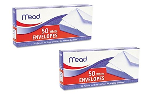 Top 2 Pk. Mead White Business Envelope #10 (50 Count) for sale