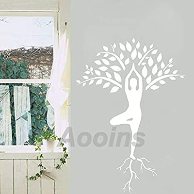 Árbol de yoga de gran tamaño calcomanías de pared decoración ...